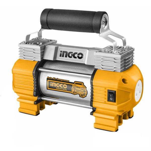 Compresor auto cu 2 cilindri, accesorii si geanta incluse - INGCO AAC2508 0
