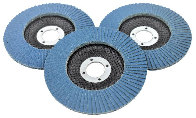 Disc abraziv lamelar cu zirconiu, 125mm - INGCO FDZ1251 [2]