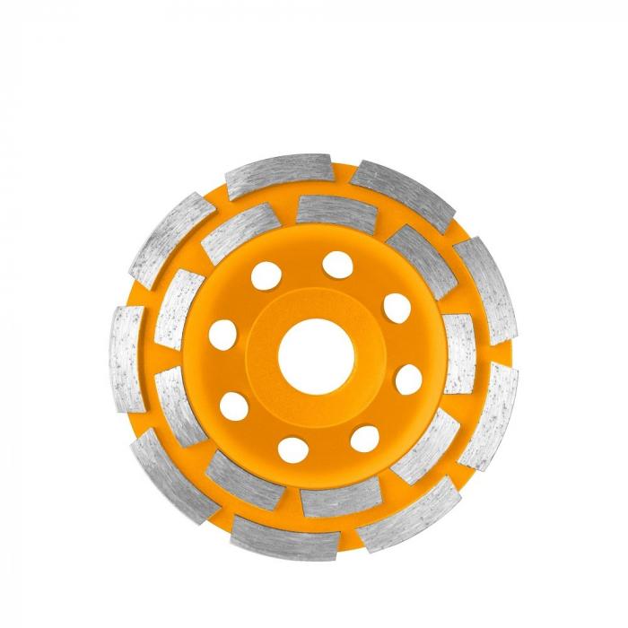 Disc diamantat 150 mm, cu 2 randuri segmente pentru slefuit suprafete beton, mozaic, marmura [0]