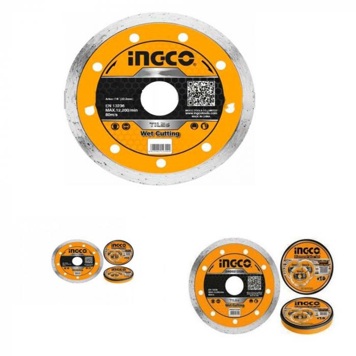 Disc diamantat continu, 125mm, taiere umeda - INGCO DMD021252 [0]
