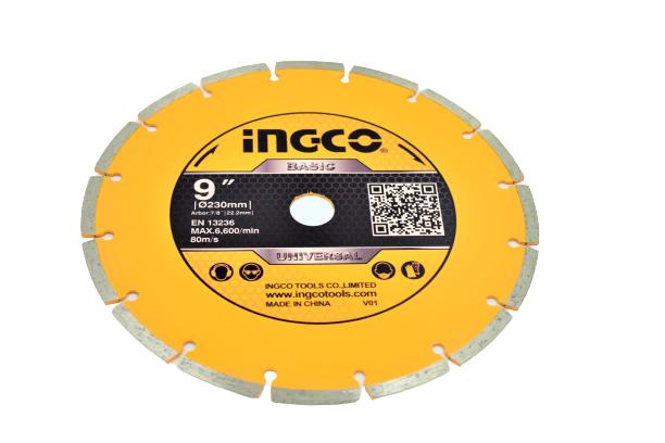Disc diamantat intrerupt 230mm x 7,5mm - INGCO DMD012302 [1]