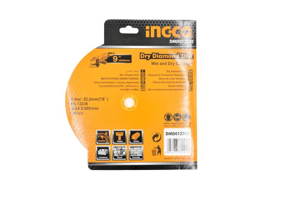 Disc diamantat intrerupt 230mm x 7,5mm - INGCO DMD012302 [5]