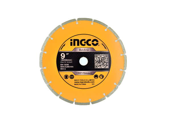 Disc diamantat intrerupt 230mm x 7,5mm - INGCO DMD012302 [0]