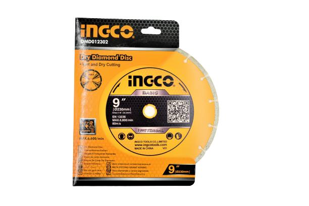 Disc diamantat intrerupt 230mm x 7,5mm - INGCO DMD012302 [4]