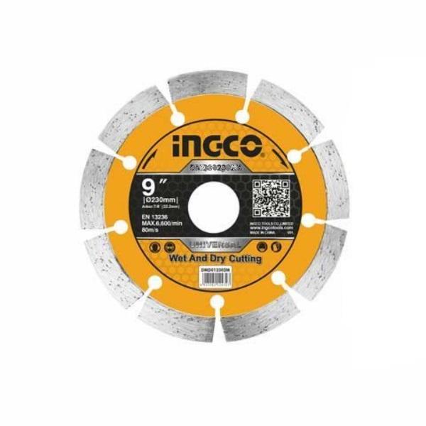 Disc diamantat intrerupt, segmentat 230mm, INDUSTRIAL - INGCO DMD012301 1