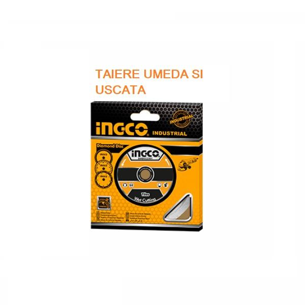 Disc diamantat intrerupt, segmentat 230mm, INDUSTRIAL - INGCO DMD012301 0