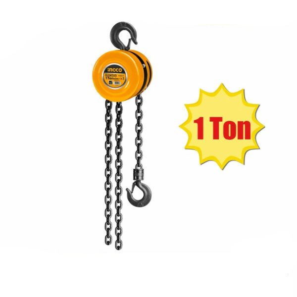 Macara cu lant, Palan manual, Scripete , 3 metri, 1 tone - INGCO HCBK0101 2