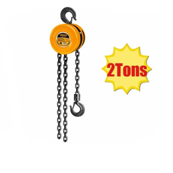 Macara cu lant, Palan manual, Scripete , 3 metri, 2 tone - INGCO  HCBK0102 [1]