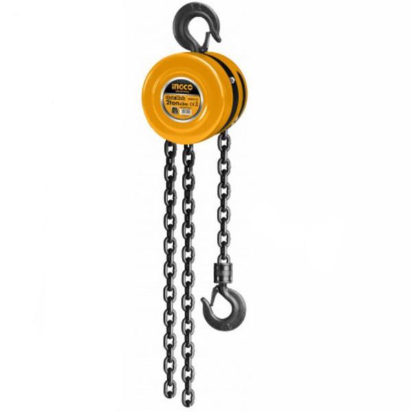 Macara cu lant, Palan manual, Scripete , 3 metri, 2 tone - INGCO  HCBK0102 [2]
