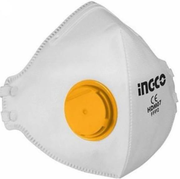 Masca de protectie FFP2 cu 4 straturi si supapa - INGCO HDM07 [0]