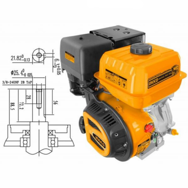 Motor benzina 13CP 4 timpi, universal, OHV - INGCO GEN1882 [0]