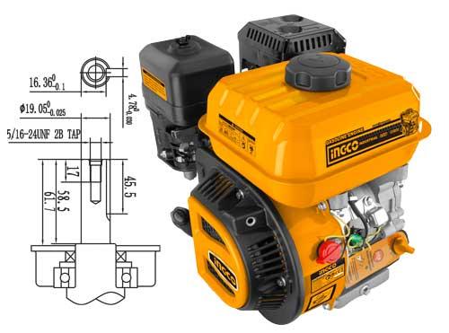 Motor benzina 6,5CP 4 timpi, universal, OHV - INGCO GEN1682 [0]