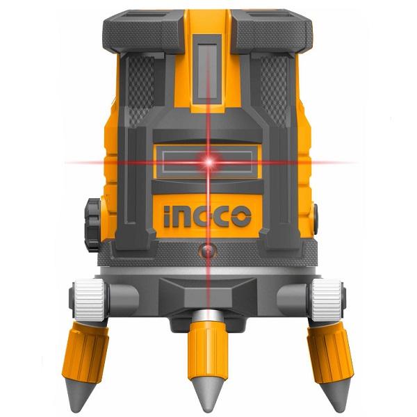 Nivela laser multi-linie, o linie orizontala, 4 linii verticale si punct de plumb vertical, rotativ - INGCO HLL306505 4
