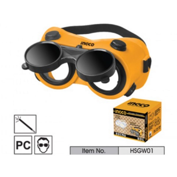 Ochelari de Protectie, Pentru Sudura, cu Lentile Rabatabile - INGCO HSGW01 0