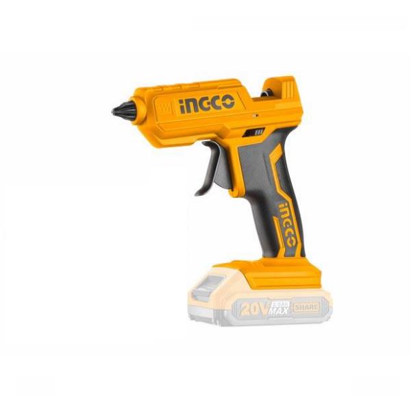 Pistol de lipit cu silicon, pe acumulator, 20V - INGCO CGGLI2001 2