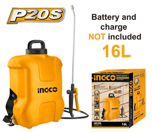 Pompa de stropit electrica pe acumulator, 20V, capacitate 16 L - INGCO CSPLI2001 [2]