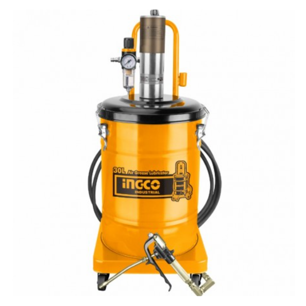Pompa pneumatica pentru gresat, 30L - INGCO AGL02301 4