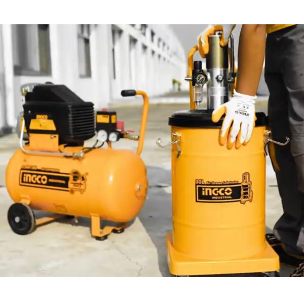 Pompa pneumatica pentru gresat, 30L - INGCO AGL02301 3