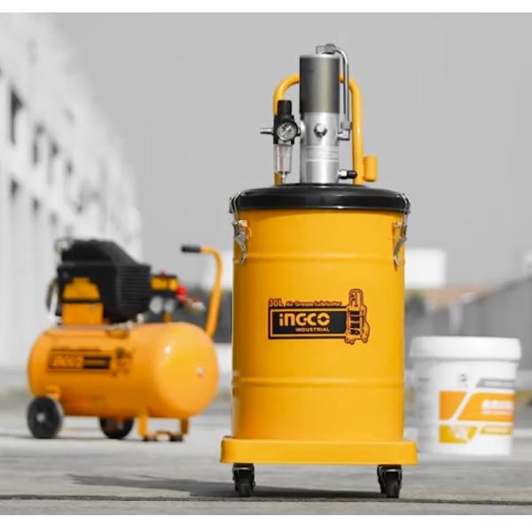 Pompa pneumatica pentru gresat, 30L - INGCO AGL02301 1