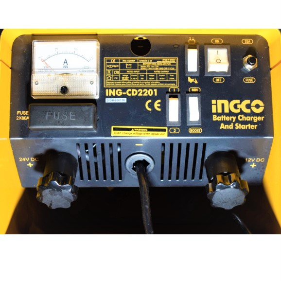 Robot pornire, incarcator, redresor baterie auto 12-24V - INGCO ING-CD2201 2