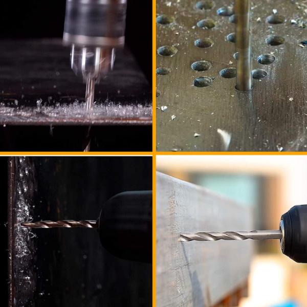 Set 15 piese de burghie PROFI pentru metal, DIN338, HSS-CO - INGCO AKDL51502 2