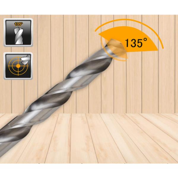 Set 15 piese de burghie PROFI pentru metal, DIN338, HSS-CO - INGCO AKDL51502 4