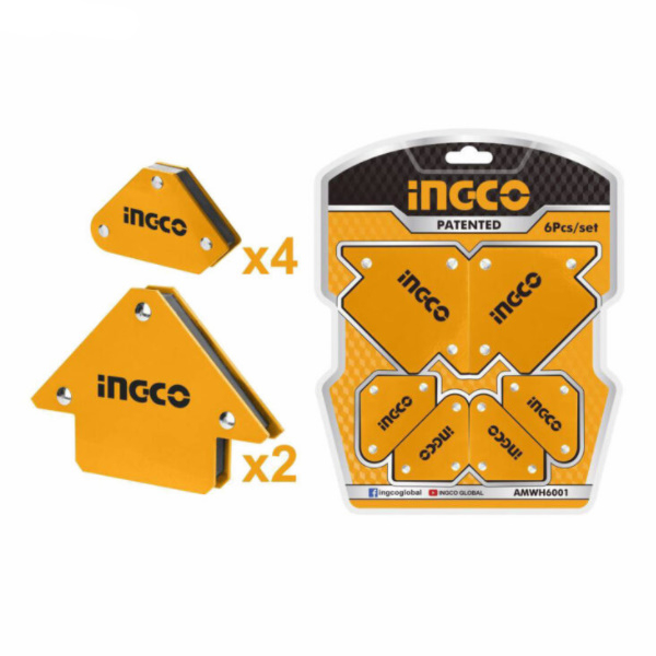 Set 6pcs. suporti magnetici pentru sudura - INGCO AMWH6001 0