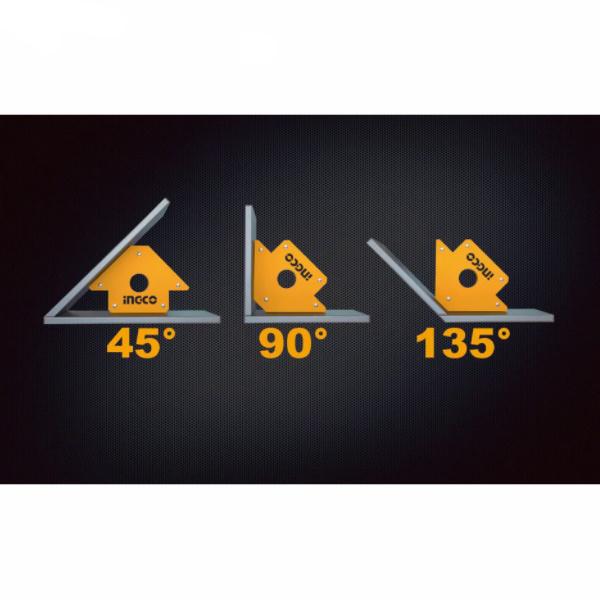 Set 6pcs. suporti magnetici pentru sudura - INGCO AMWH6001 1