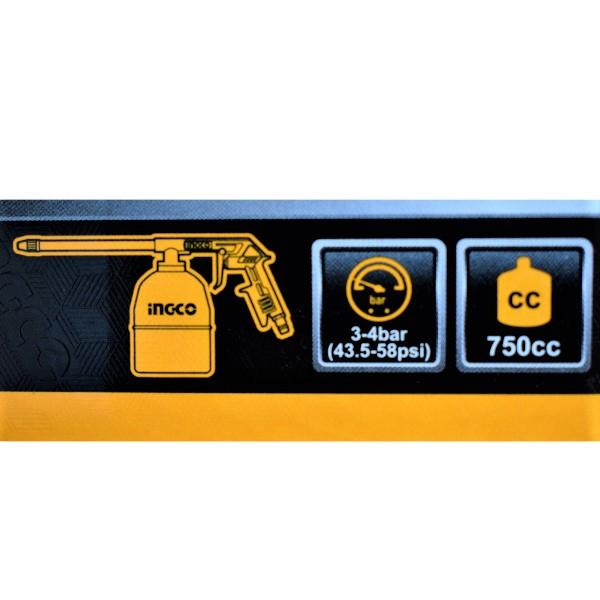 Set accesorii aer comprimat, vopsit, suflat, pistol cu vas sus - INGCO AKT0053 2