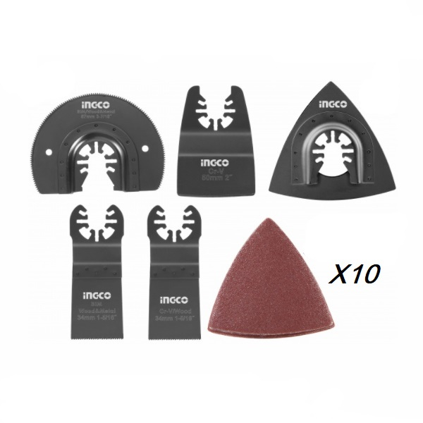 Set de 15 accesorii pentru scula multifunctionala - INGCO AKTMT1502 0