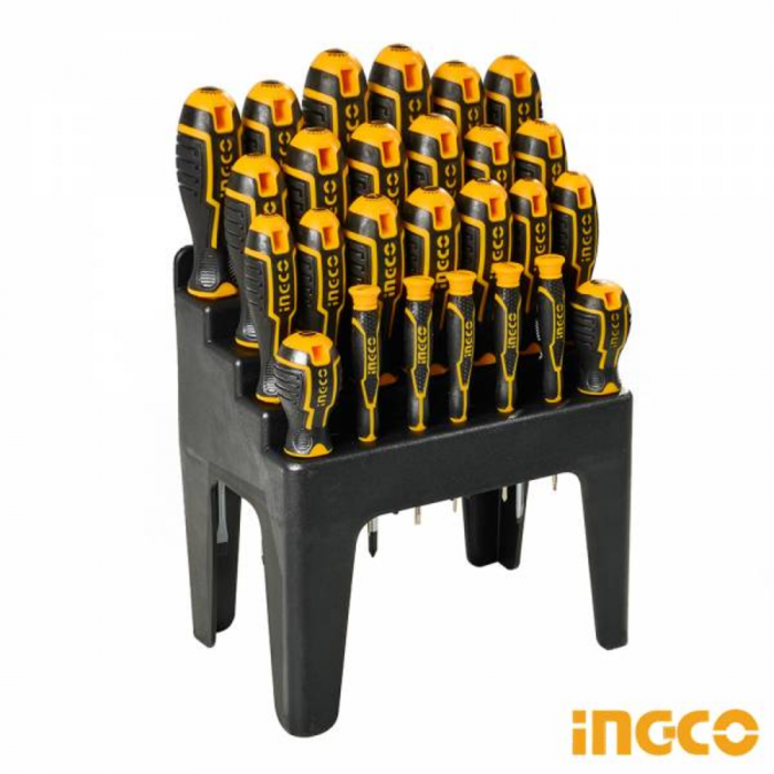 Set surubelnite, 26 piese cu suport - INGCO HKSD2628 [1]