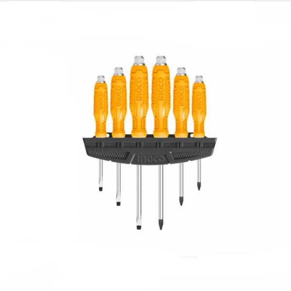 Set surubelnite mecanice, 6 buc, cu cap hexagonal - INGCO HSGTDC180601 [1]