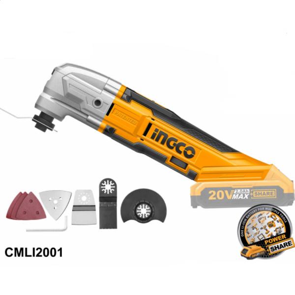 Unealta multifunctionala pe acumulator, 20V, turatie variabila - INGCO CMLI2001 0