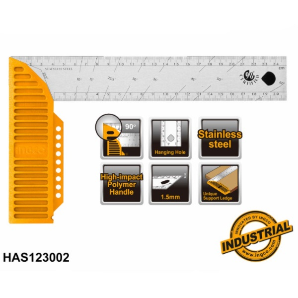 Vinclu 300mm, uz industrial - INGCO HAS123002 0