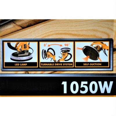 Aparat de slefuit extensibil cu lumina LED 1050W, 2300RPM, tip girafa, plafoane si rigips - INGCO DWS10501 [3]