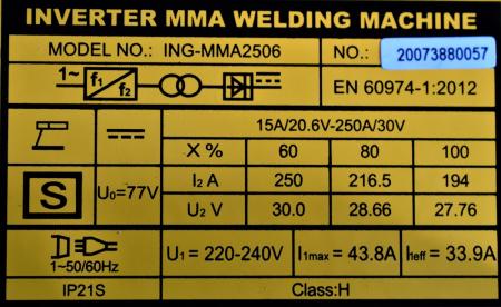 Aparat pentru sudura, Invertor 250A cu Ecran Digital - INGCO ING-MMA2506 [2]