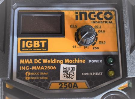 Aparat pentru sudura, Invertor 250A cu Ecran Digital - INGCO ING-MMA2506 [1]