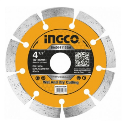Disc diamantat intrerupt, segmentat 115mm, 125mm, 180mm, 230mm0
