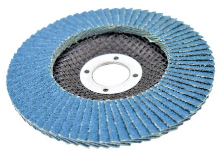 Disc abraziv lamelar cu zirconiu, 125mm - INGCO FDZ1251 [4]