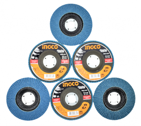 Disc abraziv lamelar cu zirconiu, 125mm - INGCO FDZ1251 [1]