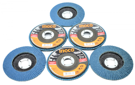 Disc abraziv lamelar cu zirconiu, 125mm - INGCO FDZ1251 [5]