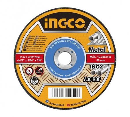 Disc abraziv, panza debitare metal 115mm - INGCO MCD1211550 [0]