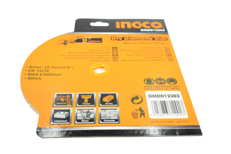 Disc diamantat intrerupt 230mm x 7,5mm - INGCO DMD012302 [6]