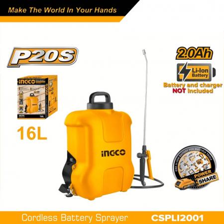 Pompa de stropit electrica pe acumulator, 20V, capacitate 16 L - INGCO CSPLI2001 [0]