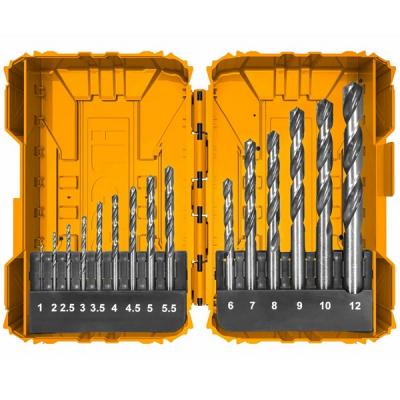 Set 15 piese de burghie PROFI pentru metal, DIN338, HSS-CO0