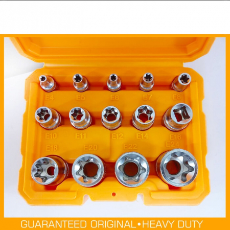 Set tubulare E torx, stea, Cr-V - INGCO HKTETS0114 [2]
