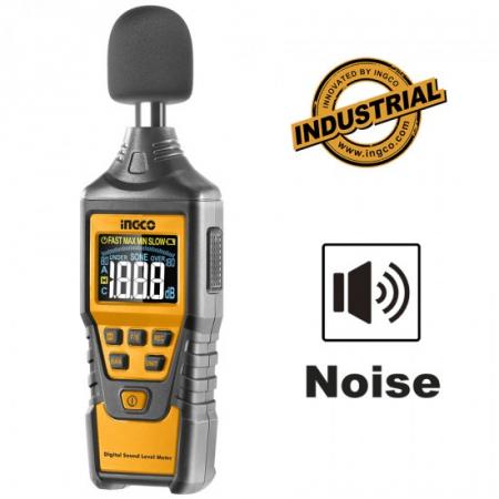 Sonometru (fonometru) digital profesional acustic pentru masurarea nivelului de sunet - INGCO HETSL01 [3]