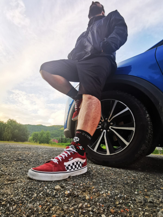 Sosete bumbac Dirty Socks black/red [4]