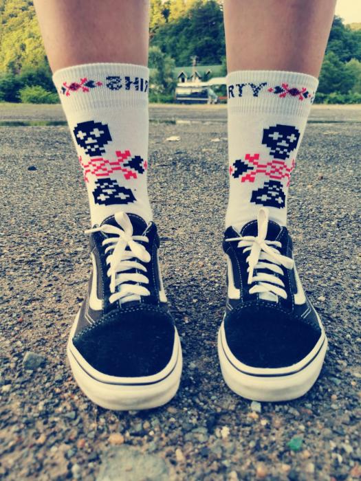 Sosete bumbac Dirty Socks White [0]