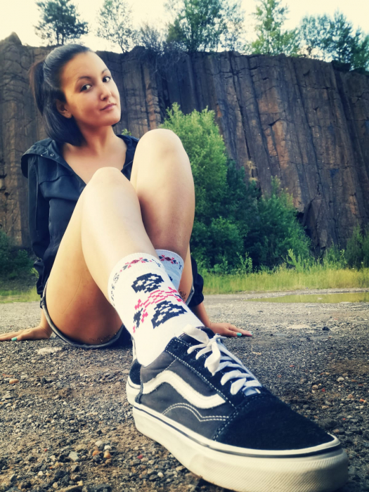 Sosete bumbac Dirty Socks White [4]
